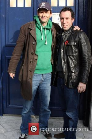 David Tennant and Christian O'Connell leaving Absolute Radio after co-presenting the breakfast show London, England - 11.11.09