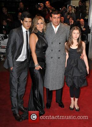 Tamer Hassan and family Dead Man Running - UK film premiere held at the Odeon Leicester Square. London, England -...
