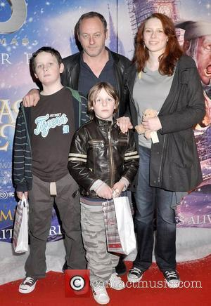 Liam Cunningham, Ellen Cunningham, Liam Cunningham and Sean Cunningham  Premiere of Disney's 'A Christmas Carol' held at Dundrum -...