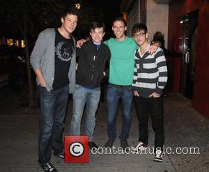 Cory Monteith, Chris Colfer and Kevin McHale from CW's Glee departing Stephen Starr's Continental Midtown Restaurant after dinner Philadelphia, Pennsylvania...