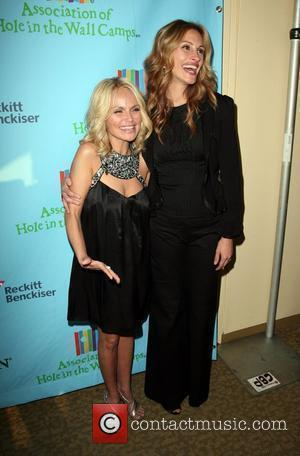 Julia Roberts and Kristin Chenoweth at a Celebration of Paul Newman's Hole in the Wall Camps in Avery Fisher Hall...