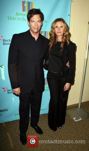 Julia Roberts and Harry Connick Jr. at a Celebration of Paul Newman's Hole in the Wall Camps in Avery Fisher...