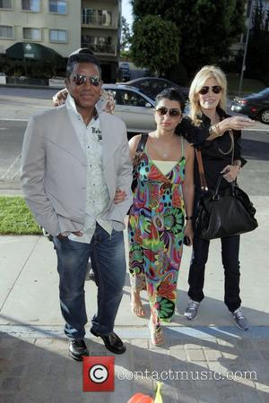 Jermaine Jackson, Halima Rashid and Shawn King visit a luxury condo open house at The Carlyle in Westwood.  Los...