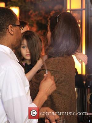 Katie Holmes, daughter Suri Cruise visit Balthazar restaurant New York City, USA - 23.11.09