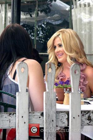 Kim Zolciak 'The Real Housewives of Atlanta' star having lunch at the Ivy Los Angeles, California - 02.10.09