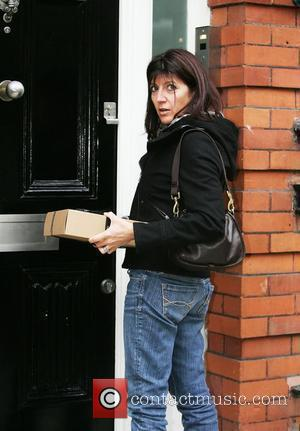 Emma Freud arriving at Matt Lucas' house the day after the death of the comic's ex-husband was announced  London,...