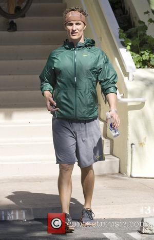 Matthew McConaughey leaves a Malibu gym Los Angeles, California - 20.10.09