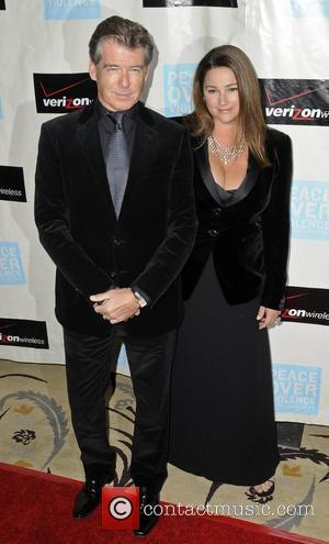 Pierce Brosnan and wife Keely Shaye Smith Peace Over Violence 38th annual Humanitarian Awards presented by Verizon Wireless at the...