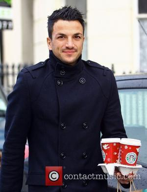 Peter Andre makes a stop at Starbucks with his son Junior Brighton, England - 22.11.09