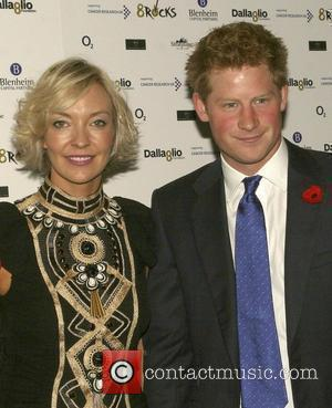 Prince Harry with Lawrence Dallaglio's wife Alice Dallaglio at the Cancer Research charity event in Battersea Park  London, England...