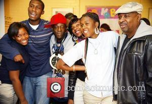 Flavor Flav, Chuck D and Youth At The Sasha Bruce House