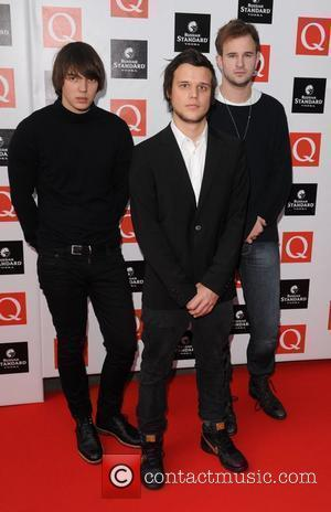 White Lies at The Q Awards held at Grosvenor House - Arrivals London, England - 26.10.09