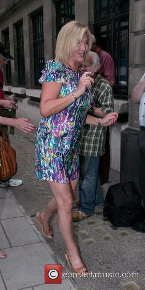 Amanda Redman outside the Radio 2 studios London, England - 14.08.09