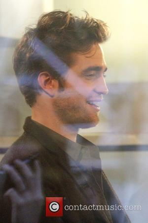 'Twilight' hunk Robert Pattinson inside the NBC studios to talk about his new film 'The Twilight Saga: New Moon' on...