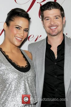 Paula Patton and Robin Thicke Roger Vivier Boutique opening party at Bal Harbour Shops - Arrivals Miami, Florida - 01.12.09