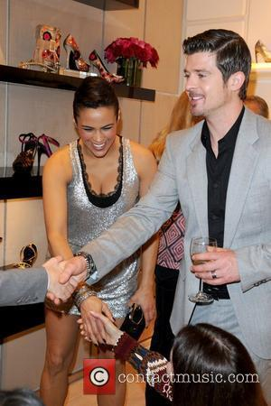 Paula Patton and Robin Thicke,  Roger Vivier Boutique opening party at Bal Harbour Shops - Inside Miami, Florida -...