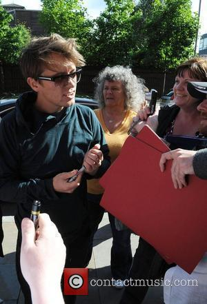 Mark Owen The members of Take That arrive at their hotel ahead of their concert at Old Trafford Cricket Ground...