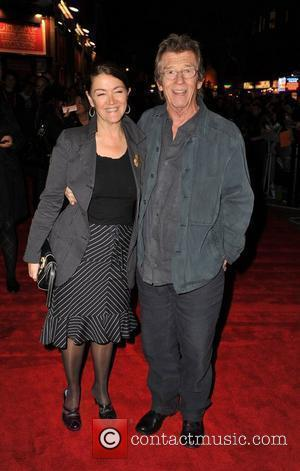 John Hurt and guest The Times BFI London Film Festival: The Road - gala screening held at the Vue West...