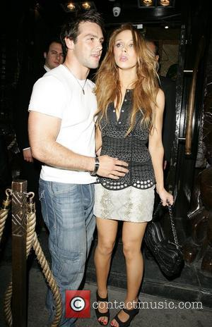 Una Healy and boyfriend Ben Foden outside Mahiki Club after a night out with the rest of The Saturday's to...