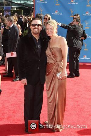 Ricky Gervais and Jane Fallon,  62nd Primetime Emmy Awards (The Emmys) held at the Nokia Theatre - Arrivals Los...