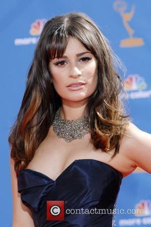 Lea Michele  The 62nd Annual Primetime Emmy Awards held at the Nokia Theatre L.A. Live Los Angeles, California -...