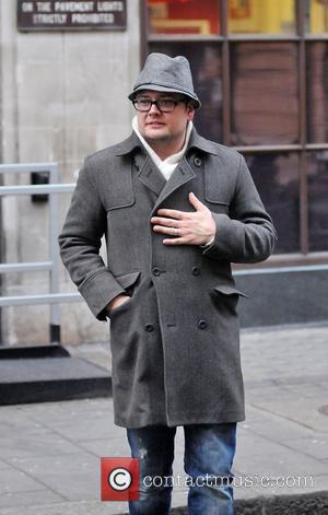 Alan Carr arriving at the BBC radio One Studios London, England - 13.12.10