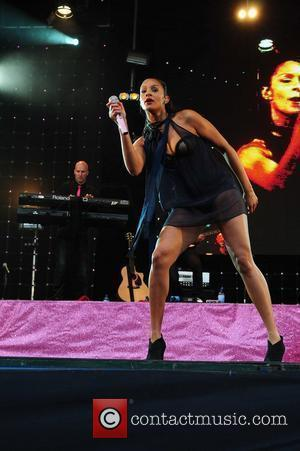 Alesha Dixon performing at Wigan Life Tuned-In Concerts 2010 held at Haigh Country Park Wigan, England - 06.07.10