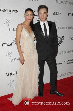 Jessica Szhor and Ed Westwick The 3rd Annual Art of Elysium Gala in Beverly Hills - Arrivals Los Angeles, California...
