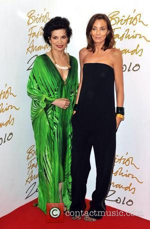 Bianca Jagger and Phoebe Philo The British Fashion Awards held at the Savoy - Arrivals. London, England - 07.12.10