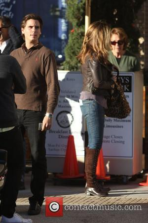 Scott Disick and Maria Shriver do some Black Friday shopping at Barneys of New York in Beverly Hills Los Angeles,...
