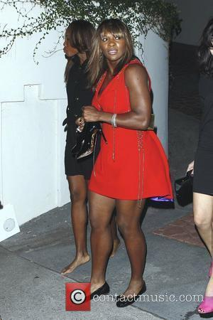 Serena Williams and Venus Williams leaving the Grammy Awards house party hosted by William Morrison in Beverly Hills. Venus is...
