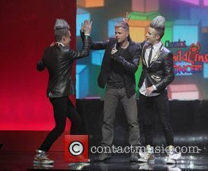 Nicky Byrne and Jedward The Cheerios's Childline Concert 2010 at the O2 Arena Dublin - Concert Dublin, Ireland - 03.12.10