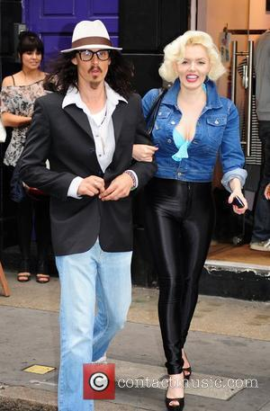 Johnny Depp and Marilyn Monroe lookalikes outside the Cirque Du FrostFrench party at the FrostFrench Store London, England - 14.07.10
