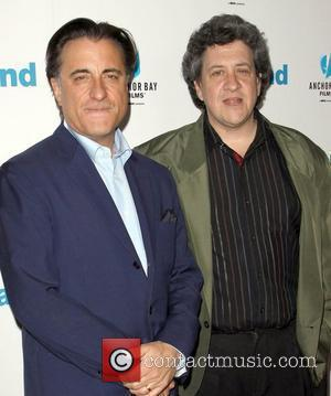 Andy Garcia and Raymond De Felitta attends the LA movie premiere of 'City Island', held at the Landmark Theatre Los...