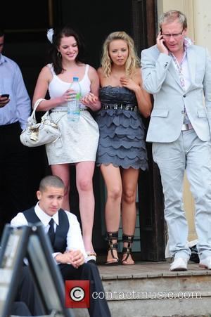 Helen Flanagan, Sacha Parkinson, Antony Cotton 'Coronation Street' Wedding filming on Location.  Manchester, England - 25.06.10