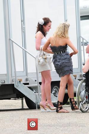Helen Flanagan, Sacha Parkinson 'Coronation Street' Wedding filming on Location.  Manchester, England - 25.06.10