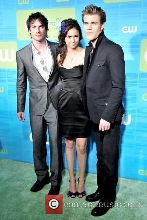 Ian Somerhalder, Nina Dobrev and Paul Wesley 2010 The CW Network UpFront at Madison Square Garden - Arrivals New York...