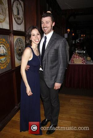 Emily Young and Bryce Pinkham The opening night after party at Gallagher's Steak House for the Theatre For New Audience...