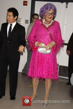 Dame Edna Everage and Michael Feinstein A photocall for the upcoming Broadway show 'All About Me' held at New 42nd...