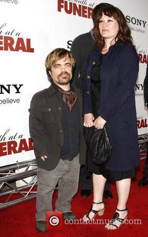 Peter Dinklage and his wife Erica Schmidt World Premiere of 'Death At A Funeral' held at the ArcLight Cinerama Dome...