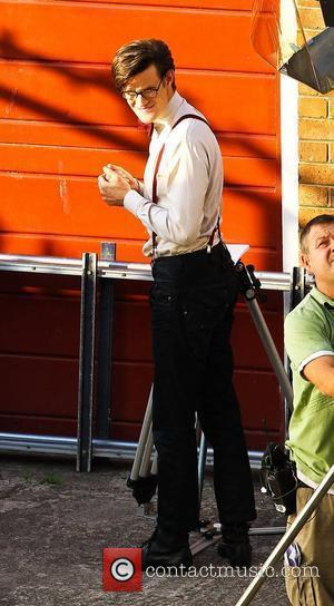 Matt Smith 'Dr Who' actors on set filming on location in the south west of the country. England - 21.09.10