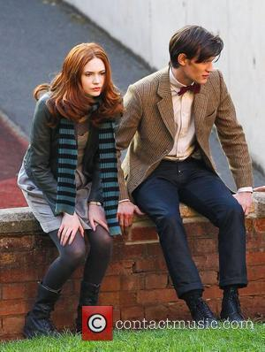 Matt Smith and Karen Gillan 'Doctor Who' filming on location in the south west of the country. England - 21.09.10