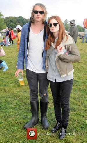 Bonnie Wright and Jamie Campbell Bower Guests backstage at Day Two of The Electric Picnic festival Ireland - 04.09.10