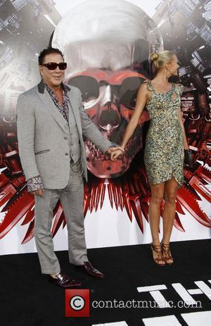 Mickey Rourke and Anastassija Makarenko Los Angeles Premiere of 'The Expendables' held at Grauman's Chinese Theatre  Los Angeles, California...