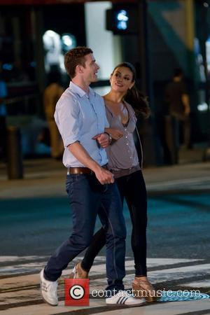 Justin Timberlake and Mila Kunis  filming scenes for 'Friends With Benefits' New York City, USA - 29.07.10