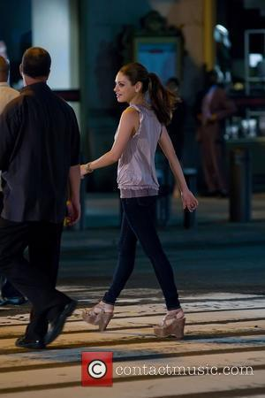 Mila Kunis  filming scenes for 'Friends With Benefits' New York City, USA - 29.07.10