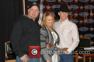 Garth Brooks, Jewel, Ty Murray PBR & Garth Brooks Teammates For Kids Foundation press conference in Madison Square Garden New...