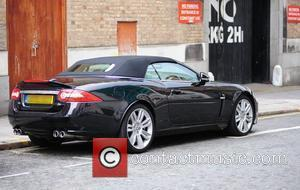 Steven Gerrard The Liverpool footballer's Jaguar car parked illegally and issued with a parking ticket. Liverpool, England - 24.03.10