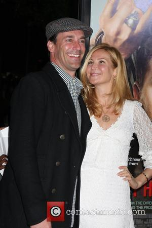 Jon Hamm and Jennifer Westfeldt Los Angeles Premiere of 'Get Him To The Greek' held at The Greek Theatre Los...
