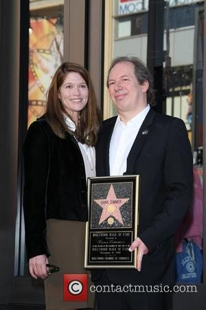 Hans Zimmer and his wife Suzanne Zimmer at the German composer and music producer ceremony for the star on The...